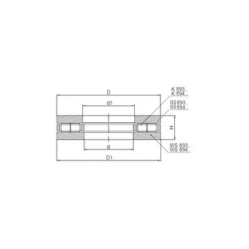 89413 CX Thrust Roller Bearings