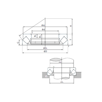 29238E NACHI Thrust Roller Bearings