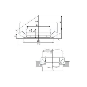 29480E NACHI Thrust Roller Bearings