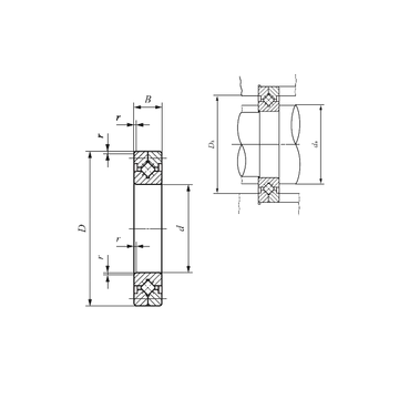CRB 20025 IKO Thrust Roller Bearings