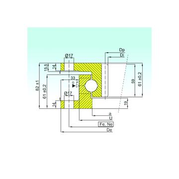 ZK.22.1100.100-1SPPN ISB Thrust Ball Bearings