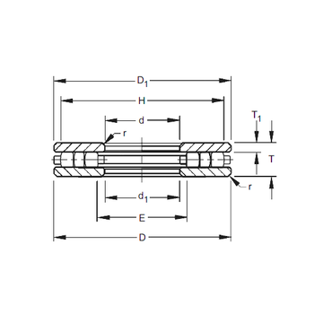 120TP151 Timken Thrust Roller Bearings