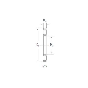 NTH-5280 KOYO Thrust Roller Bearings