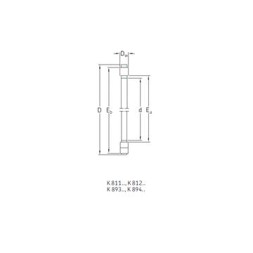 K81208TN SKF Thrust Roller Bearings
